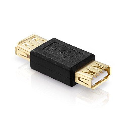 adaptare 41016 USB 2.0-Adapter A-Buchse auf A-Buchse vergoldete Kontakte schwarz