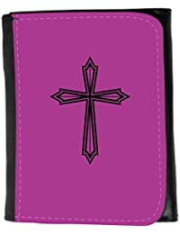 Small Faux Leather Wallet // Q07970621 christian cross 22 Byzantine // Small Size Wallet