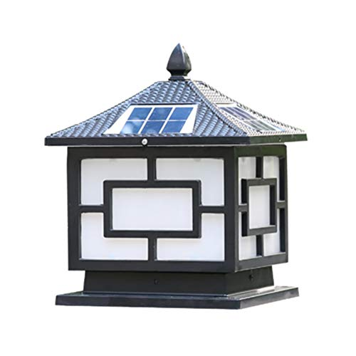 GYJ Outdoor Solar Laterne Post Light Powered Led Aluminium Säule Laterne, Warmweiß Beleuchtung, für Zaun Deck oder Patio, Machen Sie Ihr Zuhause Shine -