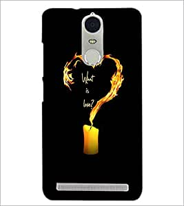 PrintDhaba Love Quote D-2224 Back Case Cover for LENOVO K5 NOTE (Multi-Coloured)
