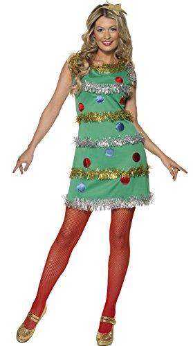 SMIFFYS - Costume Carnevale Travestimento Albero di Natale sexy - donna