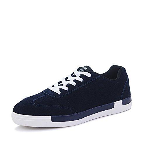 WZG nouvelles chaussures de sport d'hiver pour hommes occasionnels chaussures confortables chaussures de sport course chaussures hommes étudiants respirant Blue