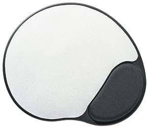 ednet Europe GmbH Tapis de souris en gel avec dessous en plastique anti-dérapant et repose poignet surélevé garni de gel Noir/argent