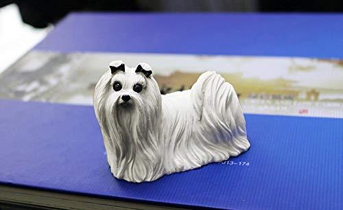 Decorationjh Skulpturen Statue Dekoartikel Skulpturen Deko Küche, Haushalt & Wohnen Malteser Hundesimulations-Hundemodellauto Macht Hauptsammlungsgeschenkverzierungen Handwerklich -