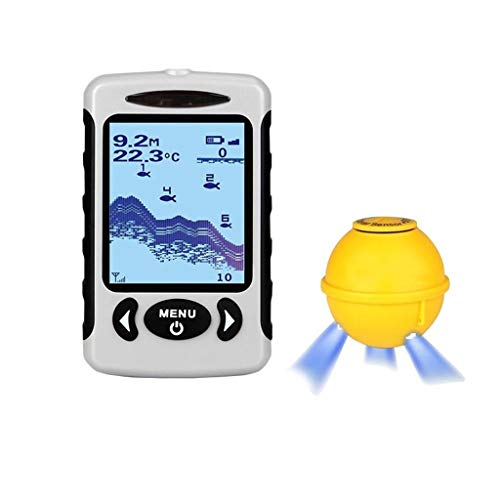 FINDYU Fisch Finder, Intelligent Sonarsensor HD-Farbbildschirm Unterwasser Visualisierung Ultraschall Tiefendetektor Humminbird Anzeigen