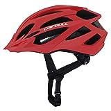 Cairbull Größe M und L Specialized Fahrradhelm MTB Helm Mountainbike Helm Herren & Damen Schwarz mit Rucksack Fahrrad Helm Integral 21 Belüftungskanäle (Rot01, M/L (55-61CM))