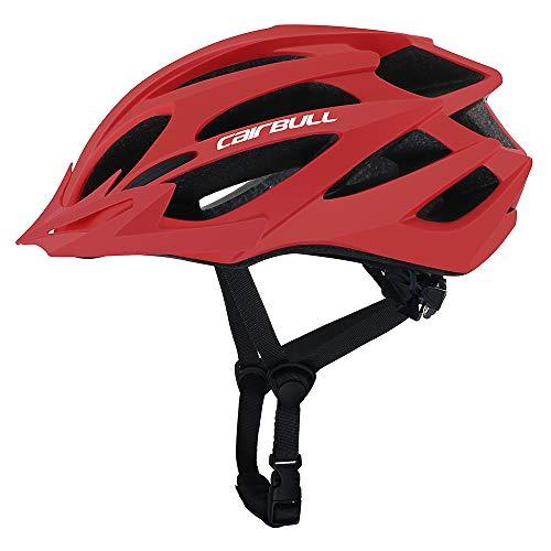 Cairbull Größe M und L Specialized Fahrradhelm MTB Helm Mountainbike Helm Herren & Damen Schwarz mit Rucksack Fahrrad Helm Integral 21 Belüftungskanäle (Rot01, M/L...