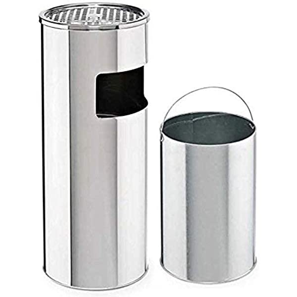 inner container capacity 15 l Plastic safety pedestal ashtray
