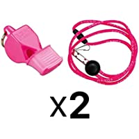 Fox 40 Classic CMG Whistle w/ Lanyard Referee Safety Alert, Pink (2-Pack)