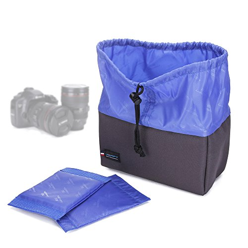 Rucksacktasche für den Kameraeinsatz, wasserdicht, mit gepolsterter Trennwand, Tasche für ein DSLR-Kameraobjektiv für Canon/Nikon/Sony (Micro Bl Case)