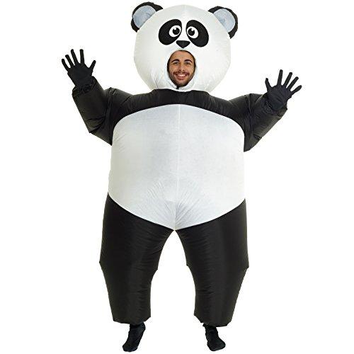 MORPH Panda Gigante Hinchable Blow Up Disfraz Disfraz-Talla única Compatible
