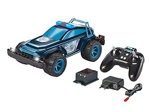 Revell Control X-treme RC Car Police - schnelles, robustes ferngesteuertes Auto als Polizei SUV mit 2,4 GHz Fernsteuerung inkl. Akku und Ladegerät (kurze Ladezeit - langer Fahrspaß) -