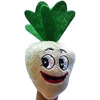 Preisvergleich für 1 stück Nette Mini Rübe Obst Gemüse Fingerpuppen Plüsch Tuch Baby Kinder Lernen Geschichte Spielzeug Puppen