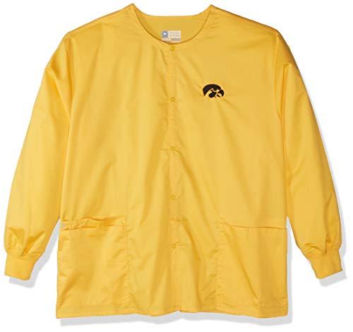WonderWink Unisex-Erwachsene University of Iowa Snap Front Jacket Legerer Blazer, Gold, XXX-Large -