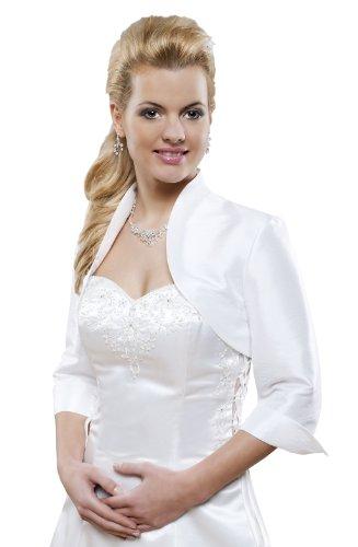 Hochzeits Jäckchen Jacke aus Satin, Bolero zum Brautkleid