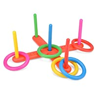 Toyrific Quoits Set, Plastic Ring Toss Game for Kids, Outdoor Games Set 21