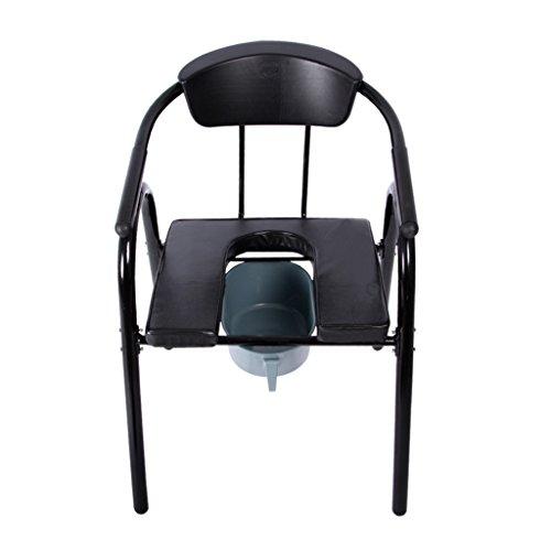 LI Jing Shop - Alter Mann Toilettenstuhl Rückenlehne mit Armlehne Bewegen Sie den Toilettensitz Größe: 56X56X80cm