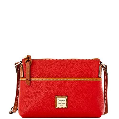 Dooney Frauen Handtasche (Dooney & Bourke Damen Handtasche Ginger Pebbled Leder klein, Rot (rot), Einheitsgröße)