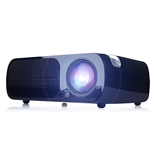 Beamer, HD 2600 Lumen Videoprojektor , LED1080P, Keystone-Korrektur, Kino Unterstützung HDMI VGA-Handels USB für Heimkino -Theater, Kinderspiele -Schwarz