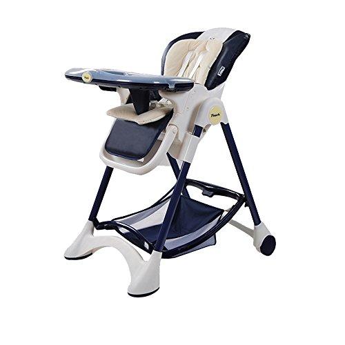 YIZI Baby Esszimmer Stuhl Kind Mahlzeit Sitz Tragbare Klapptisch Baby und Stuhl Multifunktions Sitzender Hocker (Farbe : Navy blau) - Stuhl Computer Navy