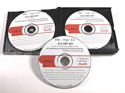 Pack 3 CD-ROM for Update FIRMWARE Audi Navigation System MMI 2G High