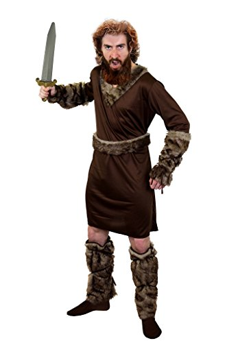 SUPER Wikinger /Vikings KOSTÜM DER Ragnar KLASSE=ERHALTBAR IN 5 VERSCHIEDENEN GRÖSSEN MIT Schwert=Tunika+GÜRTEL+ARMBINDEN+Fell IMITAT Stulpen+Schwert=XXLarge (Männer Viking Halloween Kostüme)