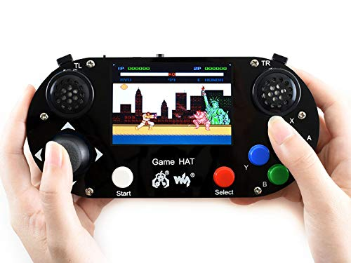 Waveshare Game HAT for Raspberry Pi A+/B+/2B/3B/3B+ 3 5inch IPS Screen 480  * 320 Resolution 60 Frame Experience Make Your Own Game Console