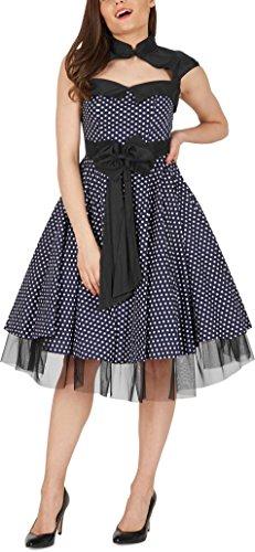 'Athena' Polka-Dots Kleid mit großer Schleife - 4