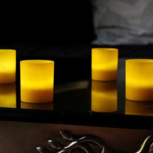 Recargable velas Portavelas de amarillo funciona con pilas caso Juego de iluminación de 6–blanco LED por pk verde