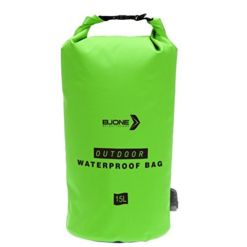 HXSS Notfall Camping Wasser Filter Tasche Portable Luftreiniger Wasser Lagerung mit Filter & Dusche Perfekt für Outdoor Camping Bootfahren Kayaking Angeln Rafting Kanufahren Schwarz / Grün (Grün)
