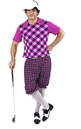 Erwachsenen Herren Kostüm Karneval Fasching Verkleidung Golfspieler Extra - Pub Golf Kostüm