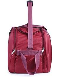 4042b42dc9 Bags Bazar Polyester 35 L Wine Red Soft Sided Travel Trolley Duffle Bag  (20x8x14 Inch