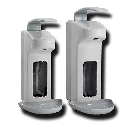Desinfektionsmittelspender Kunststoff 500ml / 1000ml, Armhebelspender mit Tropfschale, Desinfektionsmittel Wandspender, Größe:1000 ml