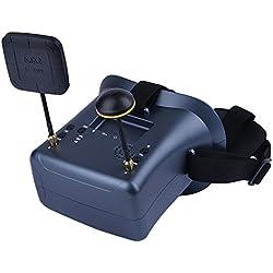 Ocamo Gafas VR para RC Modelo LS-008D con 2000mA Batería incorporada DVR Diversity FPV de 5.8G 40CH 4.3 Pulgadas