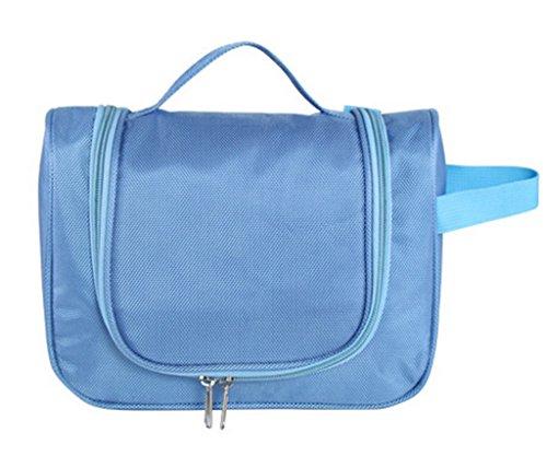 COMVIP Reise Wasserdichte Kulturbeutel Reisetasche Make Up Taschen Aufbewahrungsbox Make-up-Pinsel Organizer Violett Blau