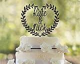 Cuore Wood cake topper wedding Wood cake topper per torta nuziale Wood cake topper Love Wood cake topper romantico legno cake topper party matrimonio Decor idea