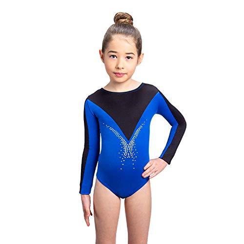 Siegertreppchen® Turnanzug für Mädchen Langarm (Größe 116-164) Gymnastikanzug, Tanzbody für Kinder zum Turnen, Fitness & Tanzen