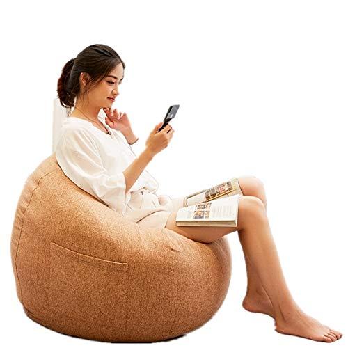 Freizeitstuhl Freizeit-Sofa Classic Cord Bean Bag Große Gaming Bean Bag Stuhl für den Innen- und Außenbereich Perfekte Lounge oder Gaming Chair Haus oder Garten Lounge-Sessel ( Farbe : Messing ) -
