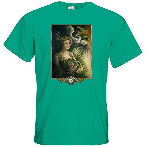 getshirts - Das Schwarze Auge - T-Shirt - Götter - Peraine Pacific Green