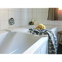 Holz Badewannenablage Weiss lackiert - nach Maß