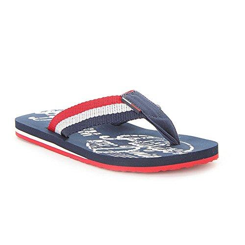 Tommy Hilfiger - Beach - EM56820698284 - Colore: Bianco-Blu marino-Rosso - Taglia: 40.0