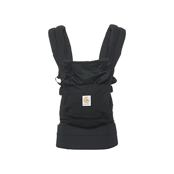 """Ergobaby Baby Carrier for Toddler Pure Black, Original 3-Position Child Carrier 5.5 to 20kg with Lumbar Support, Front Backpack Ergobaby Ergonomic babycarrier - ergonomic for baby with wide deep seat for a spread-squat, natural """"m"""" seated position. Baby carrying system with 3carry positions:  front-inward, hip and back. from baby to toddler: 5.5*-20kg Maximum wearing comfort - lumbar support waist belt (adjustable from 66-140cm / 26-52in) that can be adjusted to the height of the carry position. 3"""