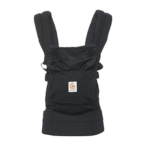 Ergobaby Original Babytrage Schwarz, Babytragetasche Ergonomisch und Atmungsaktiv, Baby Tragesystem von 5.5 bis 20kg, Kindertrage Rückentrage