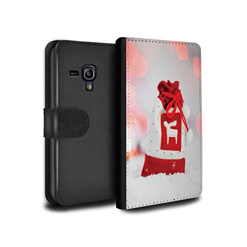�lle/Case/Tasche/Cover für Samsung Galaxy S3 Mini/Rentier Strumpf Muster/Weihnachts Festliche Jahreszeit Kollektion ()