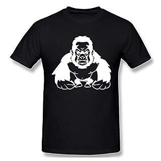 T-Shirt Gorilla Agro Cool Affe Shirt für Herren,Schwarz Sommer Basic Slim Cotton T-Shirt