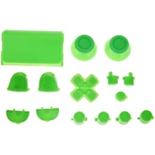 Reemplazo Kit de Botón de Tapa L2 L1 R1 R2 Thumbstick para Sony PS4 Controlador Verde