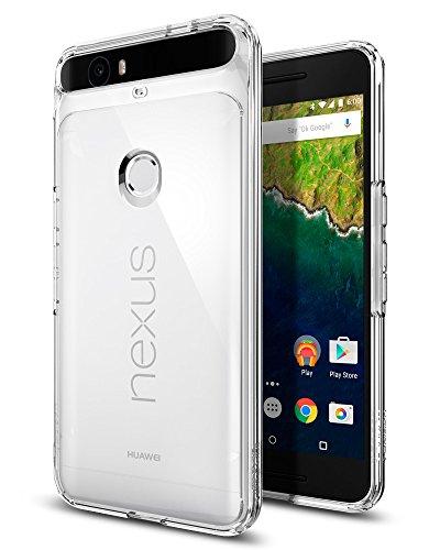 Spigen Nexus 6P Hülle, [Ultra Hybrid] LuftpolsterTechnologie [Crystal Clear] Durchsichtige Rückschale und TPUBumper Schutzhülle für Nexus 6P Case, Nexus 6P Cover Black (SGP11796)
