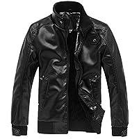 Silm Cuir De Veste Fit Blouson Parka Automne Manteau Zipper Court Artificiel Moto En À Fermeture Htwqp15
