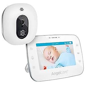 "Angelcare A0310-DE0-A1011 Babyphone mit Video-Überwachung AC310-D / 4.3"" Display, weiß"