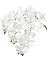 Idea Regalo - Famibay Orchidea Phalaenopsis Artificiale Fiori Orchidea Finta Bianca per Casa 3 Pz